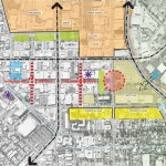 Redevelopment proposal ties together several roads into Market Street (Courtesy (fer) studio)