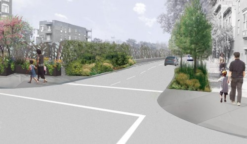 """""""Maximum Green"""" proposal for the BQE (Courtesy Starr Whitehouse)"""