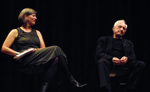 Julie V. Iovine with Gehry, in an introspective moment.