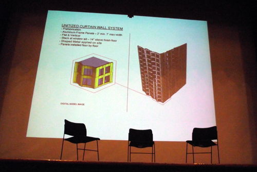 A slide of the facade system for Gehry's Beekman Place tower.