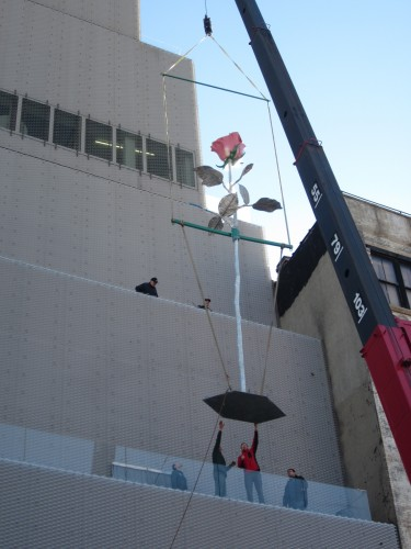"""Planting """"Rose II"""" in the New Museum facade. (Photo: New Museum)"""