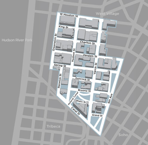 Map of Hudson Square (Courtesy Hudson Square Connection)