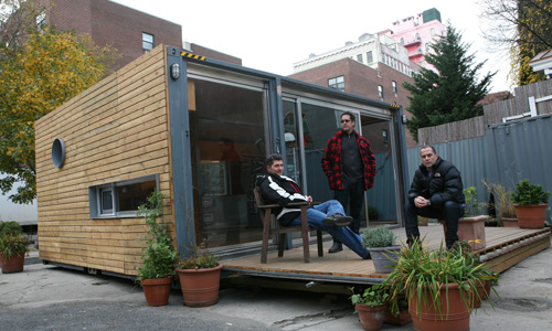 MEKA founder Michael de Jong (left) with architects Jason Halter and Christos Marcopoulous.