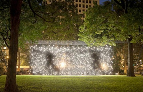Scattered Light installation by Jim Campbell (Photo by James Ewing courtesy Madison Square Park Conservancy)