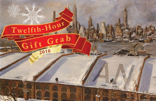 AN Twelfth-Hour Gift Grab (Painting, Manhattan Skyline by John Cunning, courtesy Smithsonian)