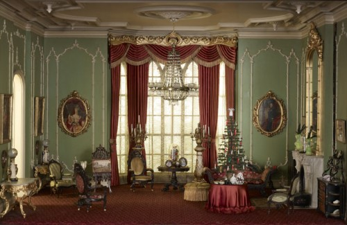 English drawing room from the Victorian .