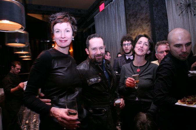 Winka Dubbeldam shares cheer with fragrance consultant Christoph Legreves and lighting designer Matilde Alessandra as former AN staffer Matt Chaban looks on.