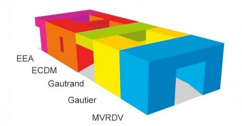 Diagram of Le Monolithe in Lyon, France (Courtesy MVRDV)