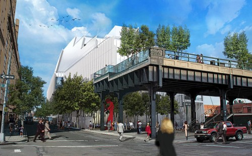 Whitney Museum rendering (Courtesy Renzo Piano Building Workshop in collaboration with Cooper, Robertson & Partners)