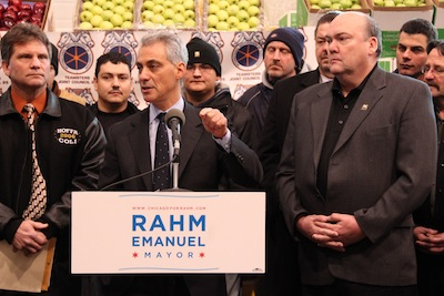 Rahm Emanuel is on track for election. (Courtesy chicagoforrahm.com)