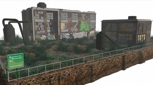 A brownfield being reclaimed (Courtesy ASLA)