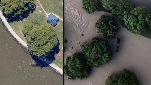 Brisbane underwater (Courtesy ABC AU)