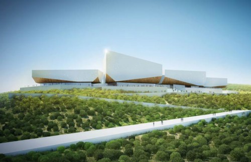 Rendering of the Calabar International Conference Center in Nigeria (Courtesy Henning Larsen)