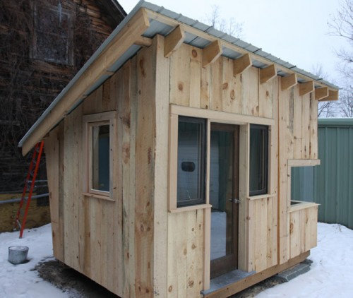 The 8-foot by 12-foot Tiny House (Courtesy Green Mountain College)