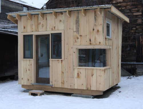 Students will sell the Tiny House in the spring (Courtesy Green Mountain College)