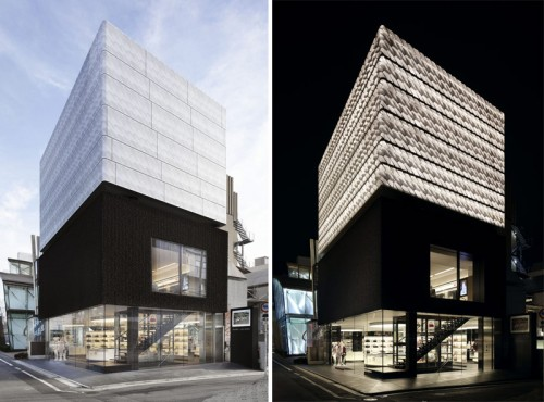 Day and night view of Marc Jacobs flagship Tokyo store (Liao Yusheng)