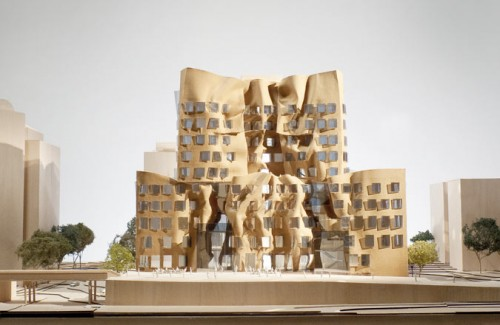 Dr. Chau Chak Wing Building. East elevation. (Gehry Partners, LLP)