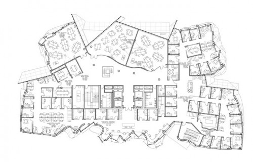 Dr. Chau Chak Wing Building. Third floor plan. (Gehry Partners, LLP)