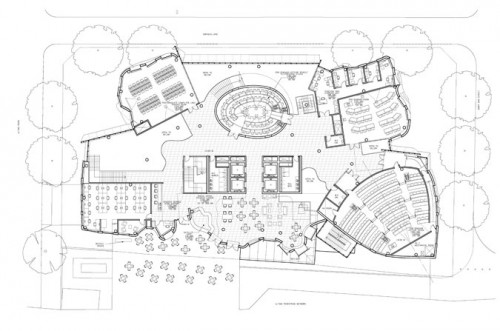 Dr. Chau Chak Wing Building. First floor plan. (Gehry Partners, LLP)