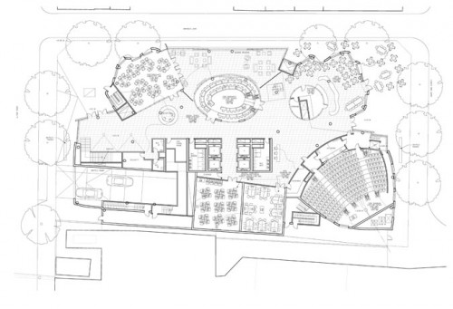 Dr. Chau Chak Wing Building. Ground floor plan. (Gehry Partners, LLP)