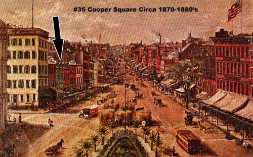 35 Cooper Square circa 1870s-1881s (Courtesy Bowery Alliance)