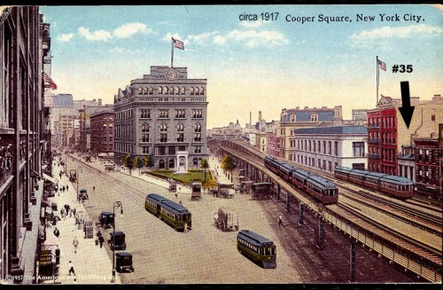 35 Cooper Square in 1917 (Courtesy Bowery Alliance)