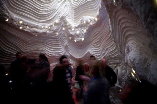 An extra-sensory cave within SCI-Arc's gallery space.
