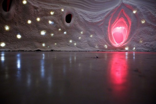 The site-specific installation at the SCI-Arc Gallery.