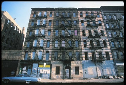Before Adam Purple's Garden of Eden in the Lower East Side (Photo by Harvey Wang)