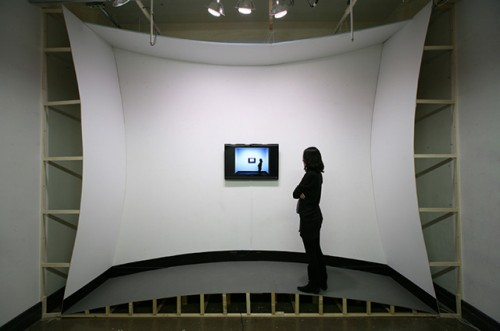 Kyung Woo Han's distorted-room installation, Calibration II (Via Today and Tomorrow)