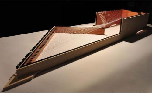 Model of Interboro's design for MoMA P.S.1 (Courtesy Interboro)