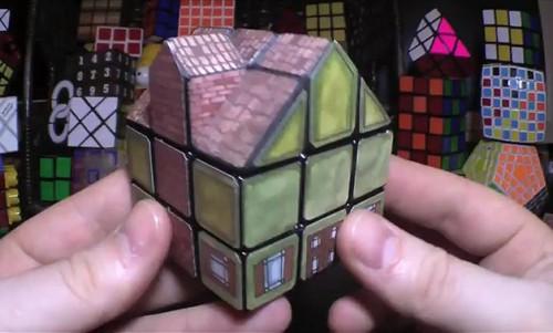 Rubik's Cube House by Kenneth Brandon