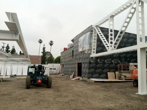 Morphosis HQ construction site last Thursday.