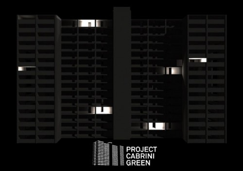 Chicago's last Cabrini Green high rise will be lit up before demolition (Courtesy Project Cabrini Green)