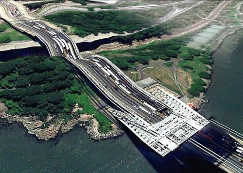 George Washington Bridge (Google Earth via Clement Valla)