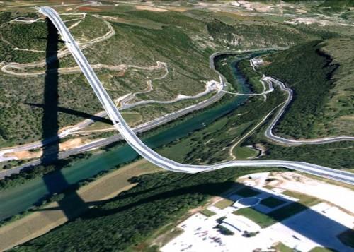 Millau Bridge (Google Earth via Clement Valla)