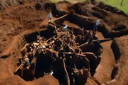 Unearthing a giant ant colony (Still from video)
