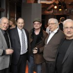Ben Gazzara, Bruce Ratner, Bono & Carl Bernstein join Frank Gehry to celebrate his first skyscraper and birthday.