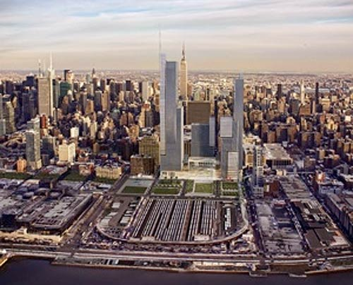 Initial phase of Hudson Yards (Courtesy Related)