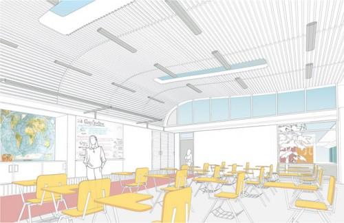 Hodgetts + Fung's prototype classroom.