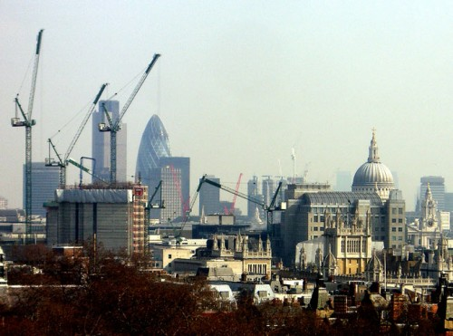 London Skyline with Wren's cathedral at right (Courtesy James Cridland/flickr)