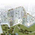 Phase one of MVRDV's Amanora Apartment City in Pune, India.