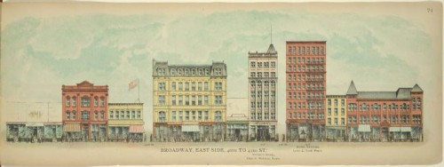 Broadway, East Side. 40th to 43rd St. (Courtesy NYPL)