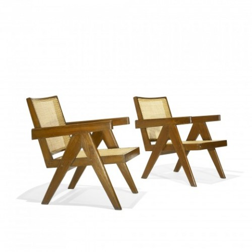 Pair of lounge chairs from Punjab University, Chandigarh (Courtesy Wright Auction House)