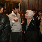 AN's Alan Brake chats with bookstore-angel Joan Davidson at the Van Alen opening.