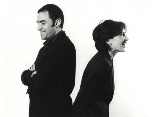 FOA partners in more collaborative times. Valerie Bennett/National Portrait Gallery, London, 2002.