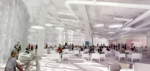 Rendering of flexible study space in the Student Learning Centre. (Courtesy Ryerson University)