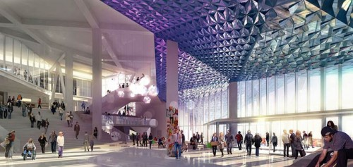 Rendering of the lobby of the Student Learning Centre. (Courtesy Ryerson University)