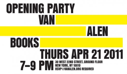 Van Alen Books hosting an opening party on Thursday, April 21 (Courtesy Van Alen Institute)