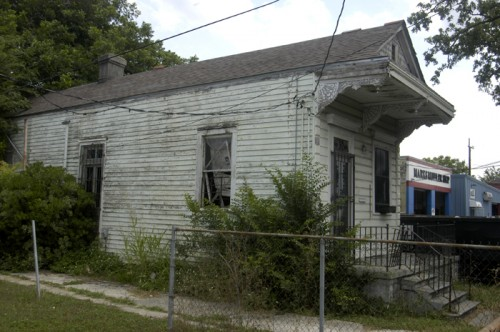 A damaged home in the Lower Ninth